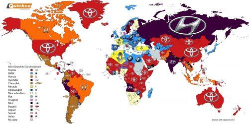 مردم دنیا چه خودروهایی را در گوگل جستجو میکنند ؟